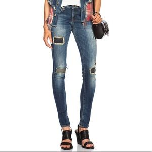 R13 | Skinny in Petrol Mended Jeans | Size 24